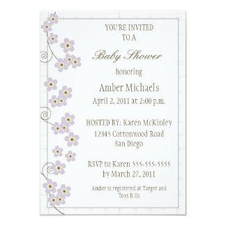 Forever Loved Baby Shower Invitation-lavender Card