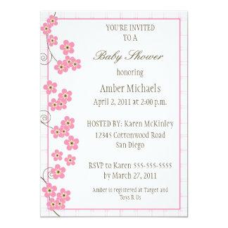 Forever Loved Baby Shower Invitation-pink Card
