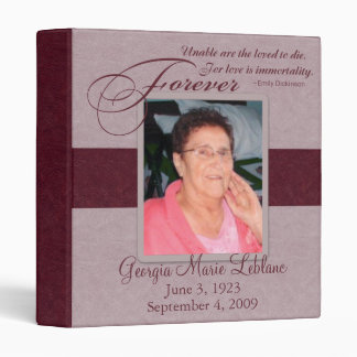 Forever Loved Custom Memorial Binder