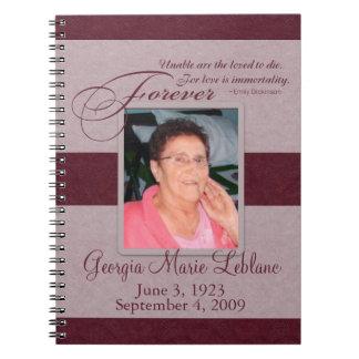 Forever Loved Custom Memorial Guest Book