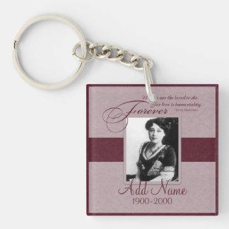 Forever Loved Custom Memorial Keychain