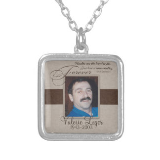 Forever Loved Custom Memorial Silver Plated Necklace