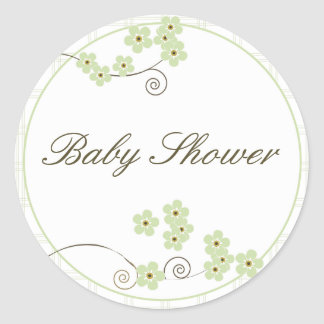 Forever Loved Envelope Seal-green Classic Round Sticker