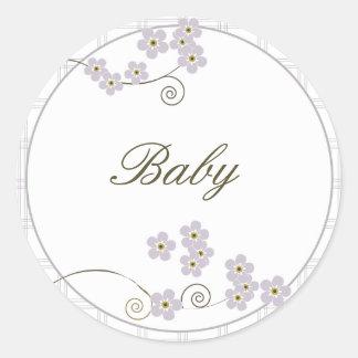 Forever Loved Envelope Seal-lavender Classic Round Sticker