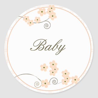 Forever Loved Envelope Seal-peach Classic Round Sticker