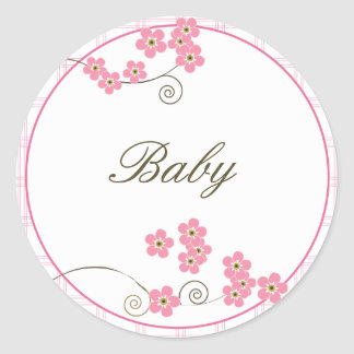 Forever Loved Envelope Seal-pink Classic Round Sticker