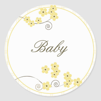 Forever Loved Envelope Seal-yellow Classic Round Sticker