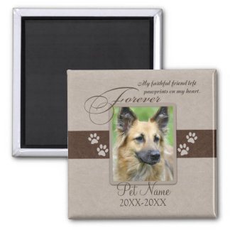 Forever Loved Pet Sympathy 2 Inch Square Magnet