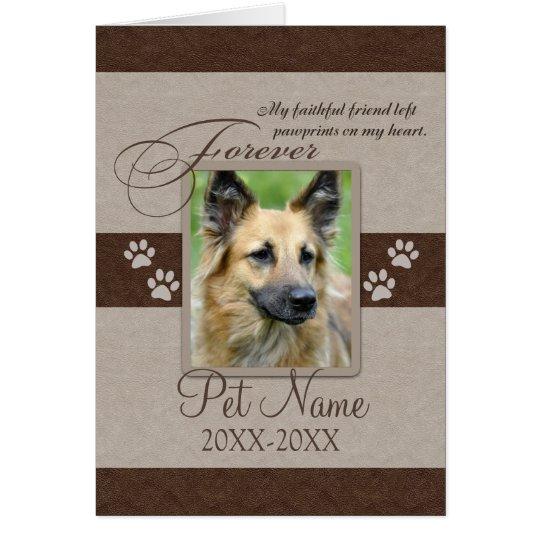 Forever Loved Pet Sympathy Card