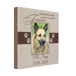 Forever Loved Pet Sympathy Custom Gallery Wrap Canvas