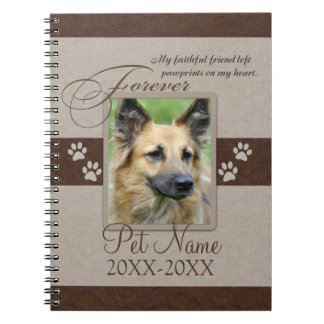 Forever Loved Pet Sympathy Custom Notebook