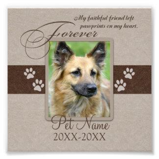 Forever Loved Pet Sympathy Custom Photo Print