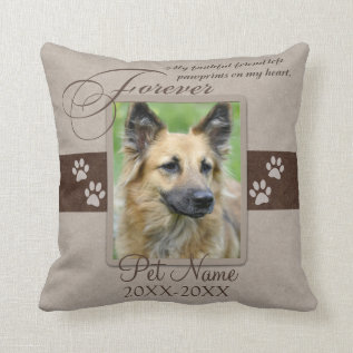 Forever Loved Pet Sympathy Custom Throw Pillow at Zazzle