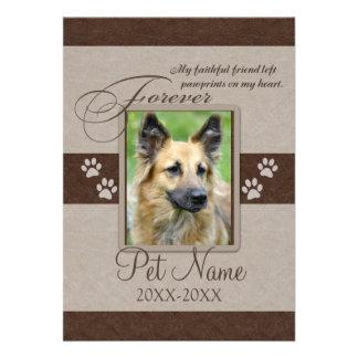 Forever Loved Pet Sympathy Custom Invite