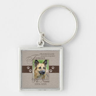 Forever Loved Pet Sympathy Keychain