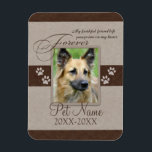 "Forever Loved Pet Sympathy Magnet<br><div class=""desc"">My faithful friend left pawprints on my heart. Pet poem that goes for dogs, cats, or any pets with paws. Pay tribute to a loved pet with these personalized memorial gifts keepsakes or offer your condolences with personalized sympathy gifts from Healing Tears to honor a special pet in your life....</div>"