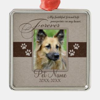 Forever Loved Pet Sympathy Metal Ornament