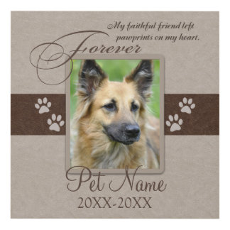 Forever Loved Pet Sympathy Panel Wall Art