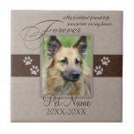 Forever Loved Pet Sympathy Small Square Tile