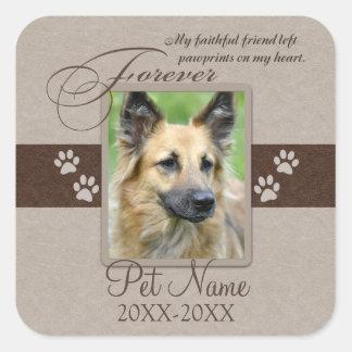 Forever Loved Pet Sympathy Square Sticker