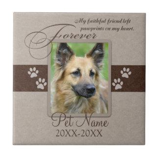 Forever Loved Pet Sympathy Ceramic Tiles