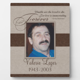 Forever Loved Sympathy Photo Plaque