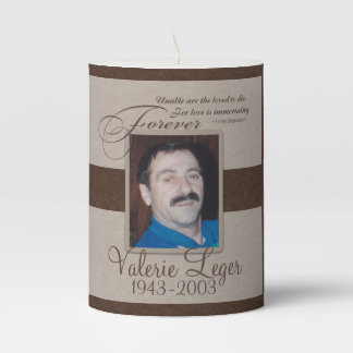 Forever Loved Sympathy Pillar Candle
