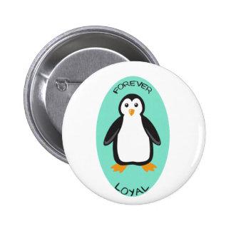 Forever Loyal Penguin Couple Pinback Button