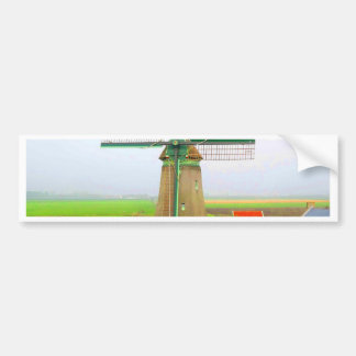 Forever memory netherlands scenic landscape bumper sticker