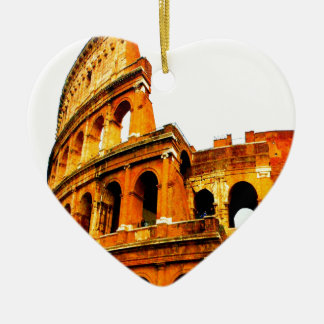 Forever memory never forget rome italy colosseum christmas ornament