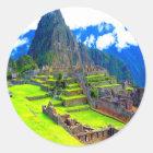 Forever memory of beauty machu picchu peru classic round sticker