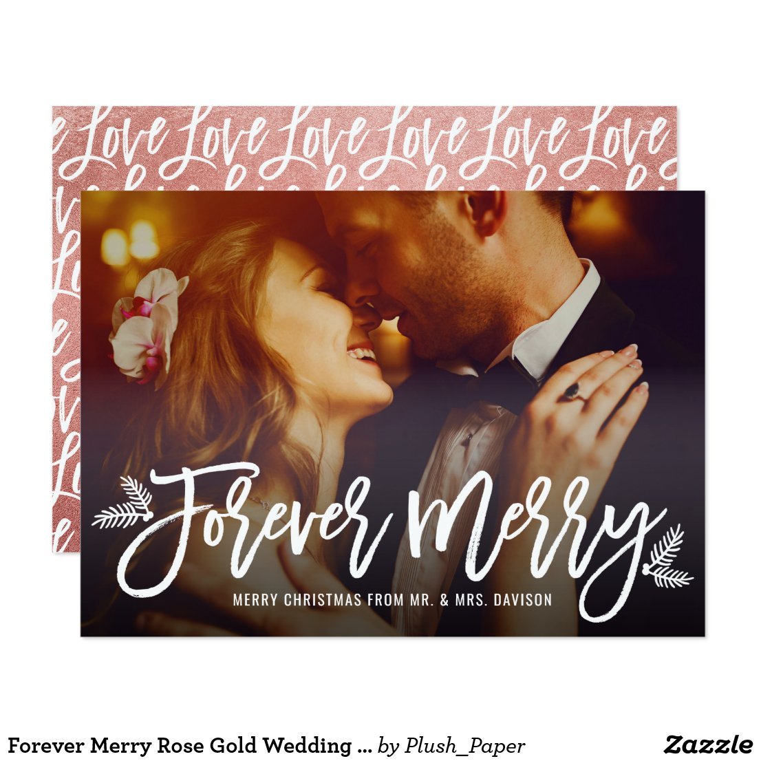Forever Merry | Newlywed Christmas Card