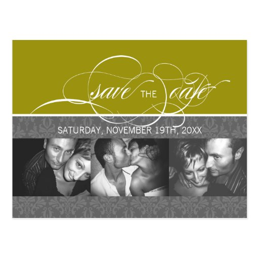 Forever More  SAVE THE DATE Photo Postcard:bamboo Postcard
