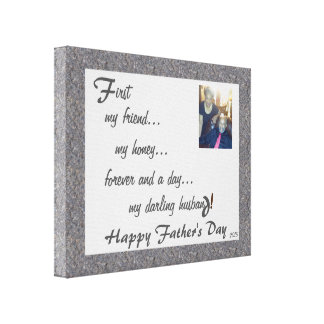 Forever My Darling Husband - Harvey Canvas Print