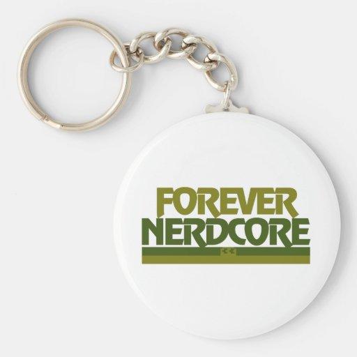 Forever Nerdcore Basic Round Button Keychain