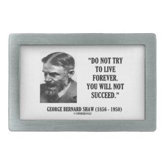 Forever no vivo de George B. Shaw Do no tener Hebillas De Cinturón Rectangulares