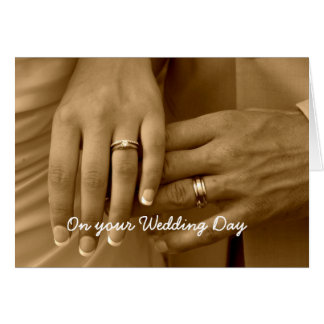 """""""Forever One"""" Wedding Card"""