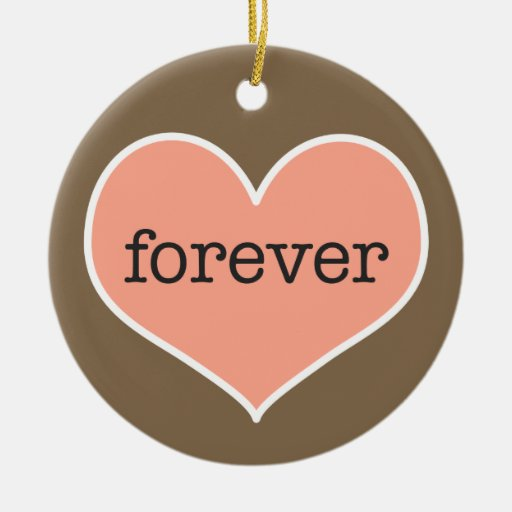 Forever   Personalized Valentine's Day Ornament