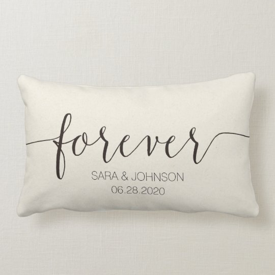 Personalized Pillows For Wedding Gift: FOREVER,Personalized Wedding Gift Lumbar Pillow