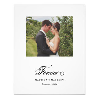 Forever | Personalized Wedding Print Art Photo