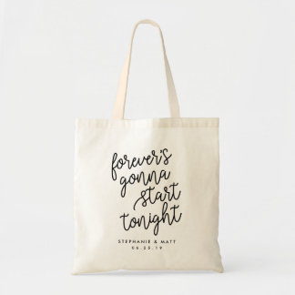 Forever | Personalized Wedding Welcome Tote Bag