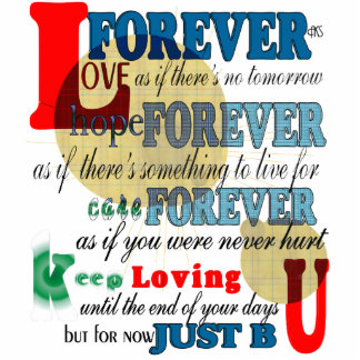 Forever Poem Cutout