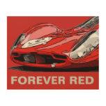 FOREVER RED WOOD WALL ART