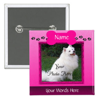 Forever Remembered Dog or Cat Memorial 2 Inch Square Button