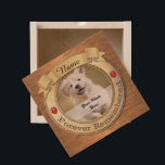 "Forever Remembered Dog or Cat Memorial Wooden Keepsake Box<br><div class=""desc"">Design features a round gold frame for you to upload your photo into. The words &quot;forever remembered&quot; is part of the design and there are 2 heart shaped paw prints above the wording. The scroll on top is for your pets name. Elegant and an awesome way to memorialize your beloved...</div>"