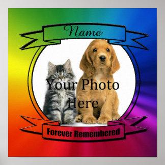 Forever Remembered for Any Pet Custom Poster