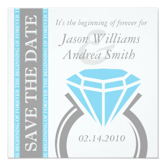 Forever Ring Save The Date Custom Announcements