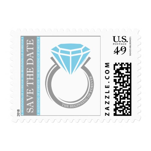 Forever Ring Save The Date Postage