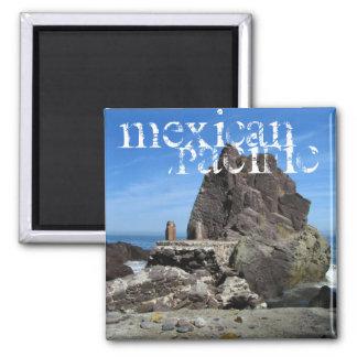 Forever Rock; Mexico Souvenir 2 Inch Square Magnet