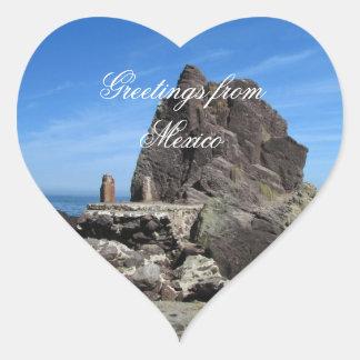 Forever Rock; Mexico Souvenir Heart Sticker